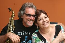 Mauro Senise com Sueli Costa