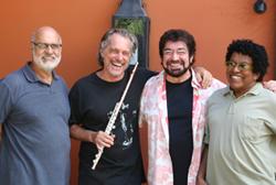Mauro Senise com Luiz Alves, Wagner Tiso e Robertinho Silva